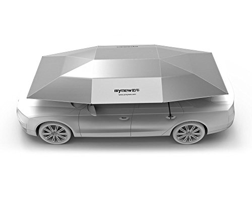 Mynew Carport Automatic Car Tent Sun Shade Canopy Folded Portable Car Umbrella with Remote Control 82×157 inches Silver  sc 1 st  BULL COMPARE & Mynew Carport Automatic Car Tent Sun Shade Canopy Folded Portable ...