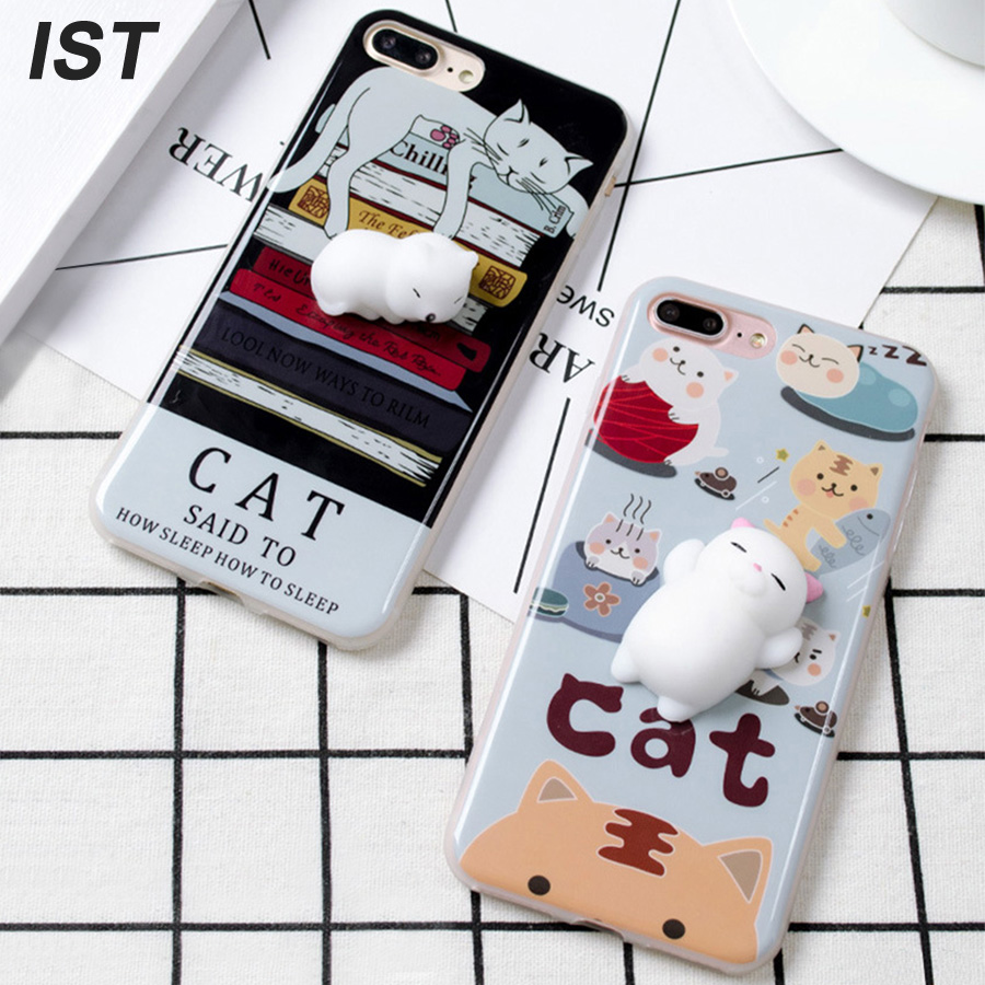best loved 89cc4 c2d84 IST Cute 3D Squishy Couple Mobile Phone Case For iPhone 6 6S 7 8 ...